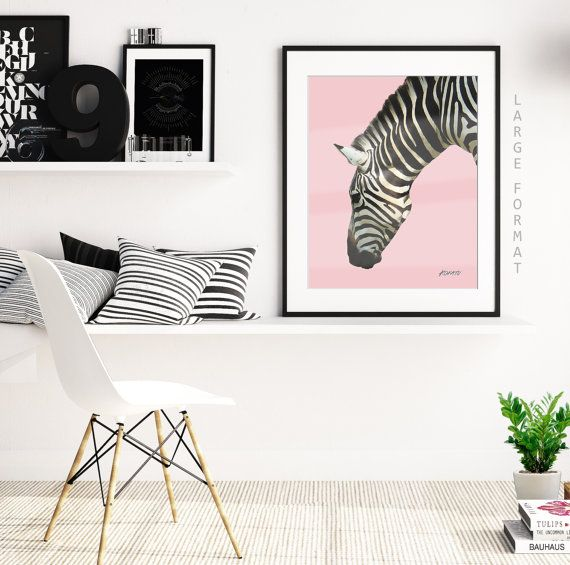 A1, A2, A3, Zebra Pink, Downloadable Animal Print, Contemporary Art,
