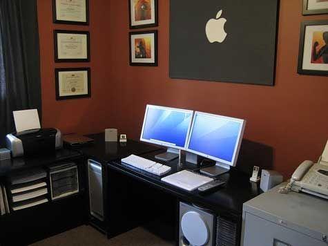 Computer Desk Inspiration Dual Monitors Home Diy Computer Desk