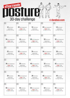 office friendly posture 30 day challenge  30 day