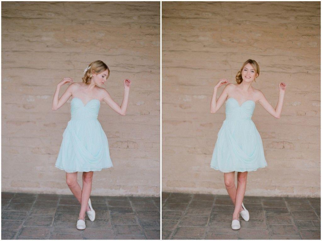 Blue short dress strapless sweetheart bridesmaid dresses