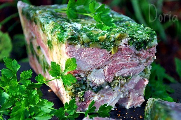 Terrine de jambon persill 1 kg de palette demi sel 600 gr - Cuisiner palette demi sel ...