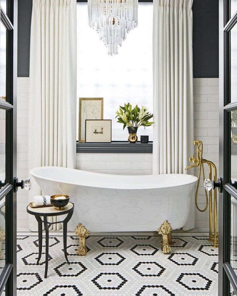 repost @housebeautiful in 25  Timeless bathroom, Bathroom tile