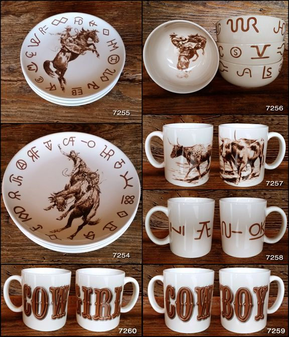 Broncs \u0026 Brands dinnerware by Cowboy Living. & Broncs \u0026 Brands dinnerware by Cowboy Living. | Western Dishes ...