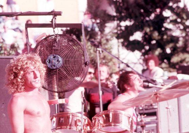 Roger Daltrey and Keith Moon, 1974.