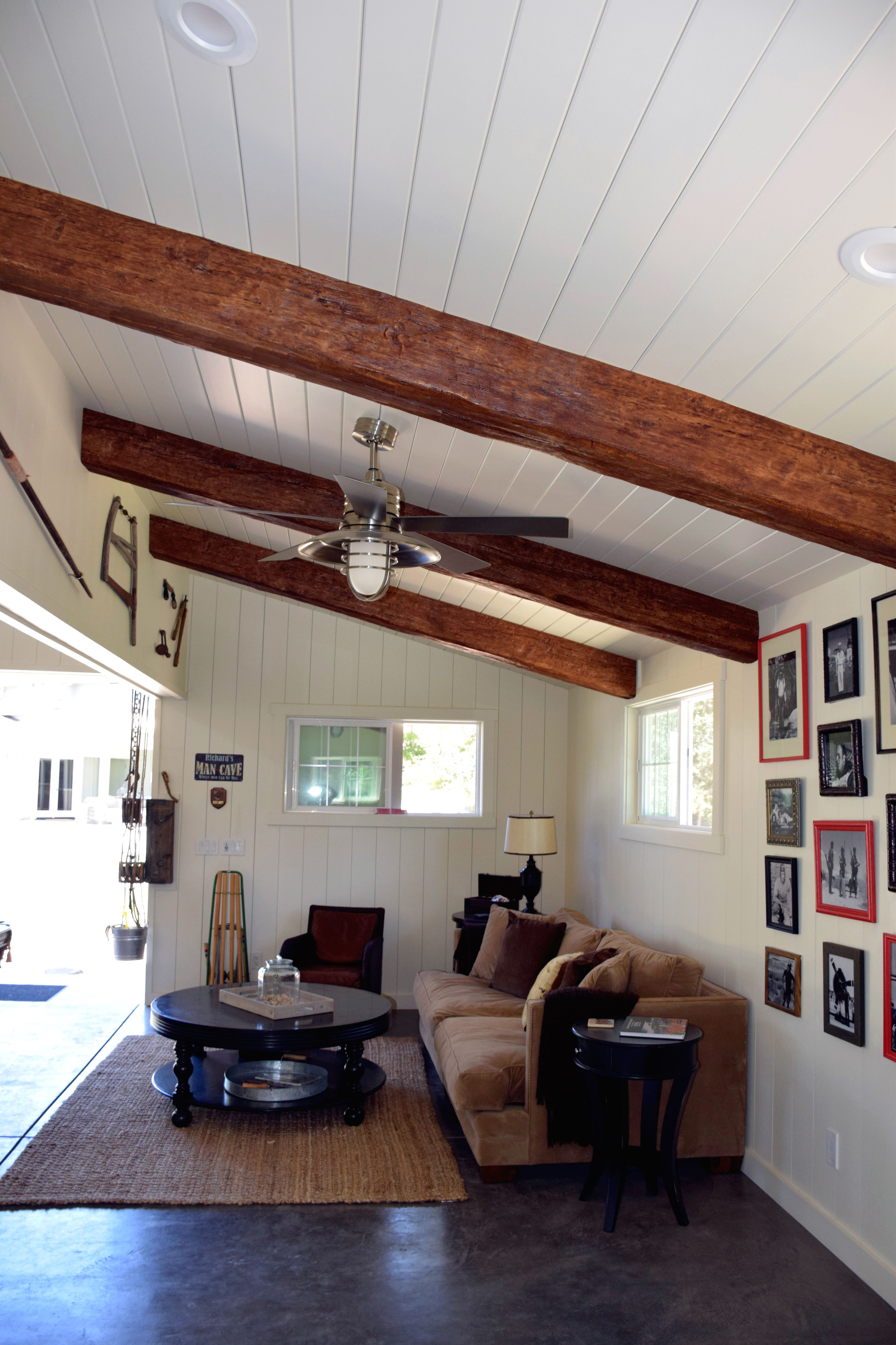 Instead Of Real Wood These Beams Are Made Of Lightweight Yet Durable Polyurethane Cus Beams Living Room Vaulted Ceiling Living Room Ceiling Beams Living Room