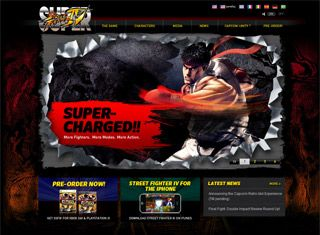 A tough looking gaming website to go with the shoot 'em up game ...