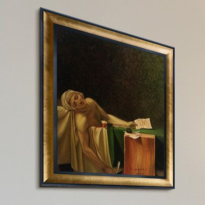 Tori Home 'The Death of Marat, 1793' by Jacques Louis David Framed Original Painting