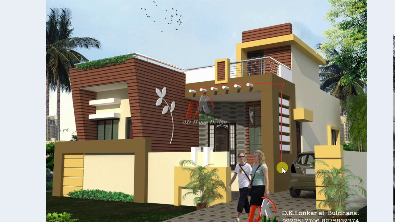 25 Ft Wide Front House Design Small House Elevation Design Small House Elevation House Design