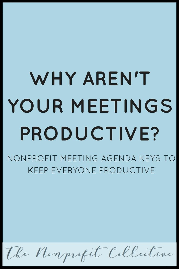 Nonprofit Meeting Agenda  Fundraising