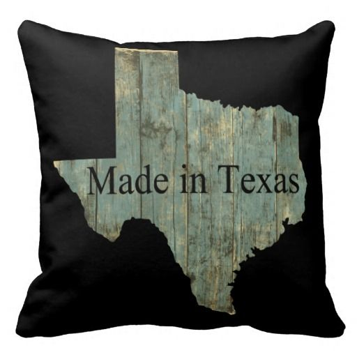 Made in Texas Square Throw Pillow Throw Pillow