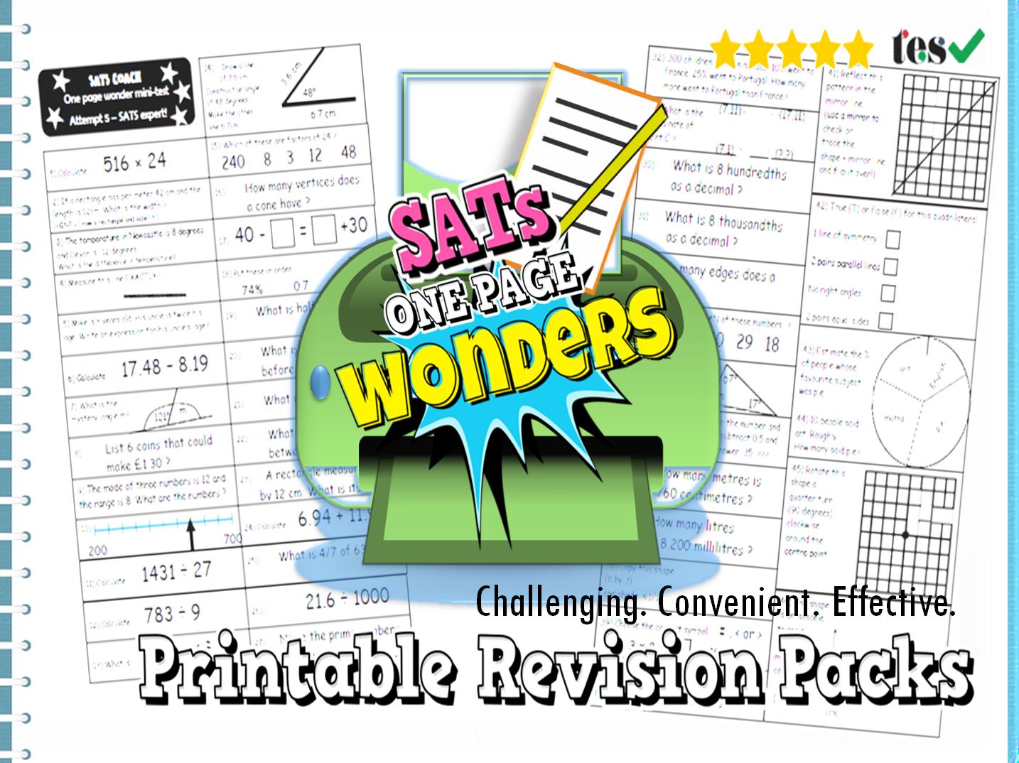 Sats Maths Revision Packs Ks2