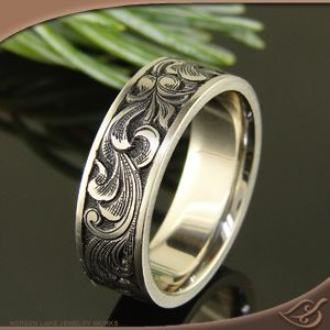 Gun Style Engraving On Ring I Would Love To Find This Or Learn Make For Cory Moe