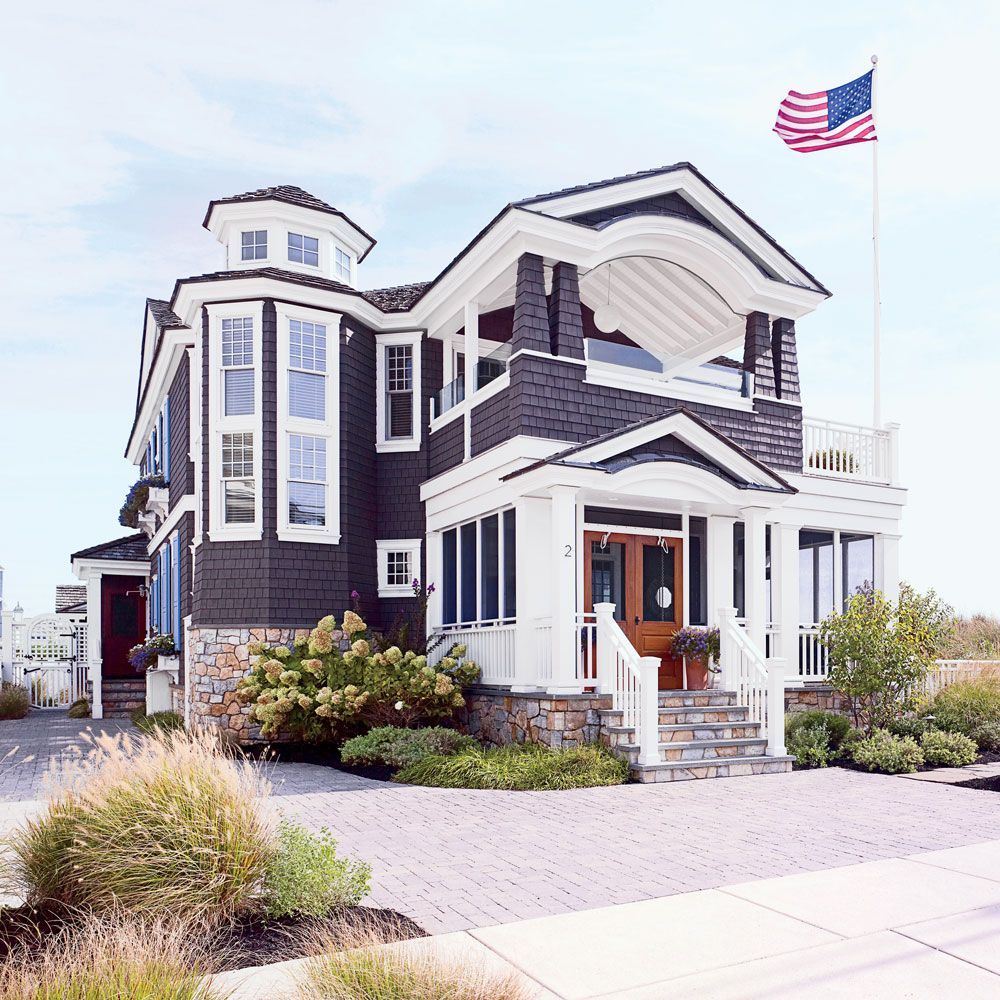 Beach Chic Coastal Cottage Home Tour With Breezy Design: Colorful Jersey Shore House Tour In 2019
