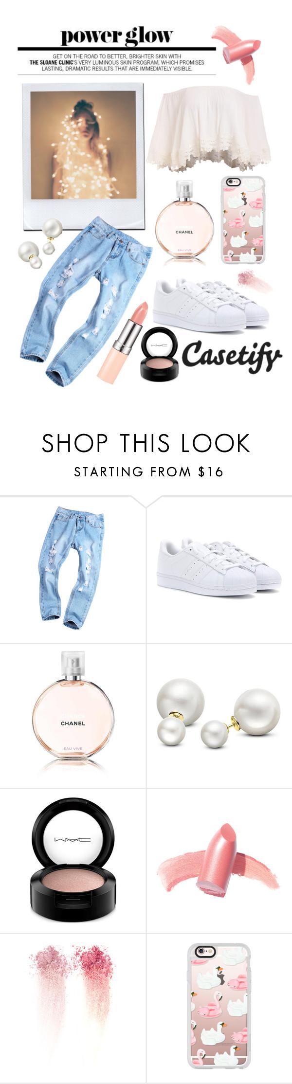 """shades of elegance"" by lialicious on Polyvore featuring adidas, Chanel, Allurez, MAC Cosmetics, Elizabeth Arden, NARS Cosmetics and Casetify"
