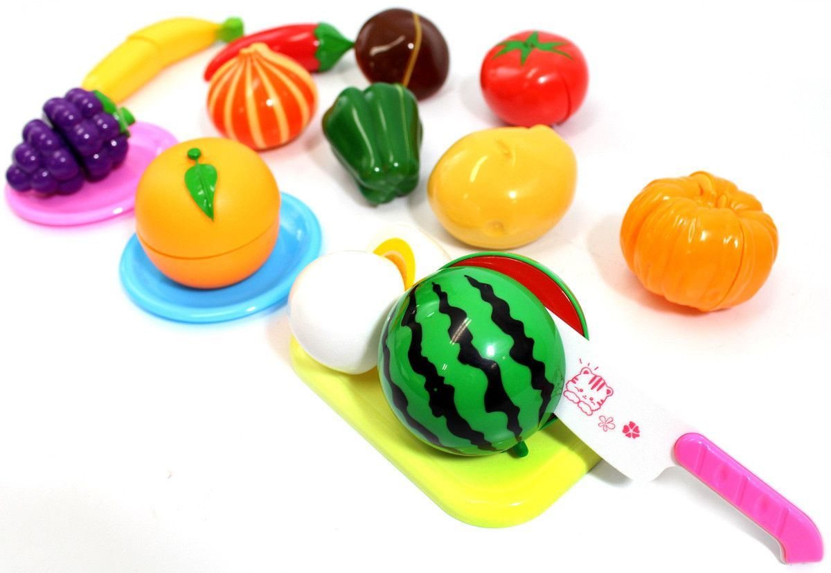 Kitchen Fun Cutting Fruits & Vegetables Food Playset
