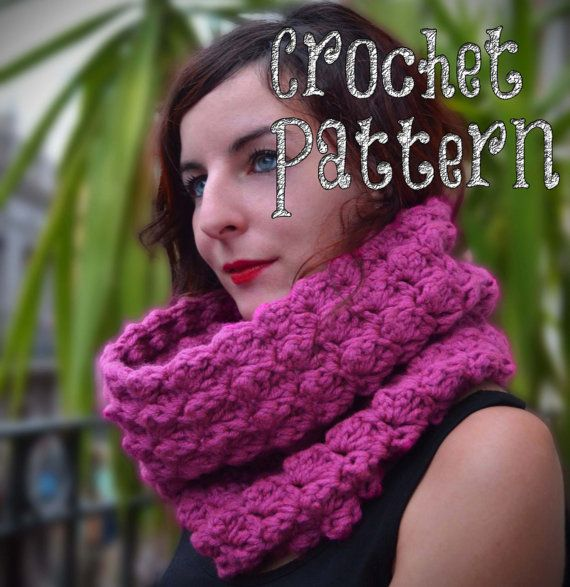 CROCHET PATTERN / Crochet Cowl / Billowy Stitch / Oversized Scarf ...