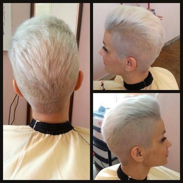 tight tapered sides with this pomp a do  style pixie