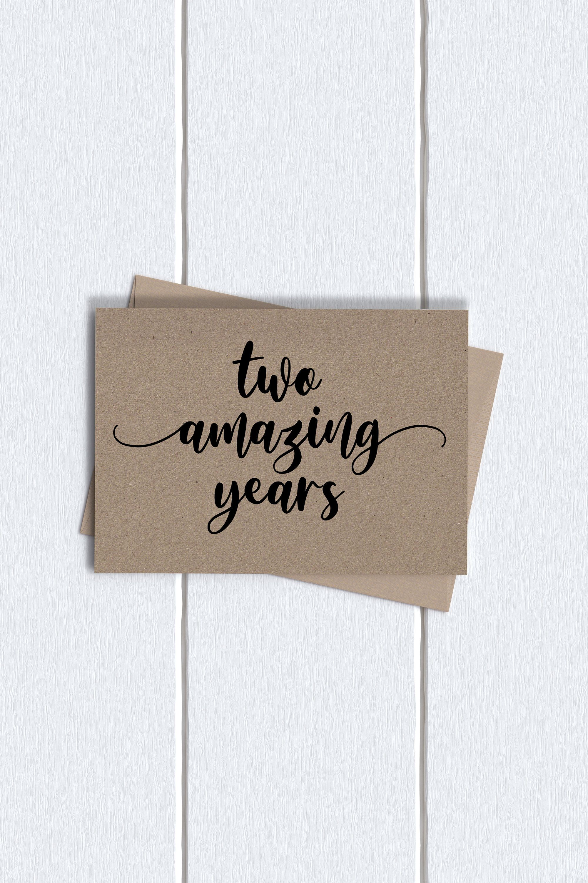 2nd anniversary card two year anniversary card two amazing