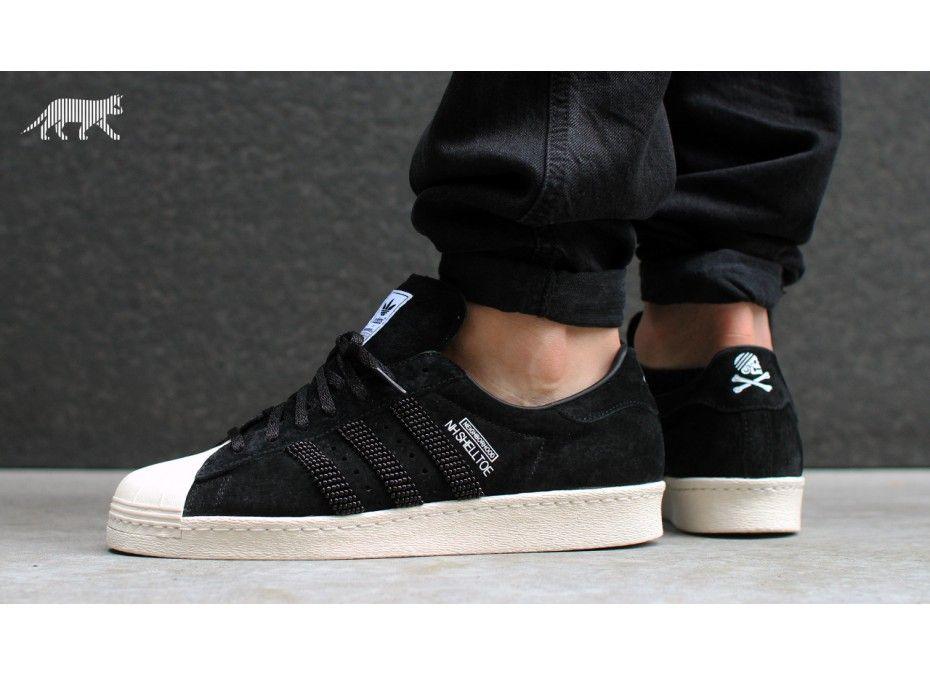 Adidas NH Shelltoe Superstar 80s x Neighborhood (Black/Black/Light Bone)