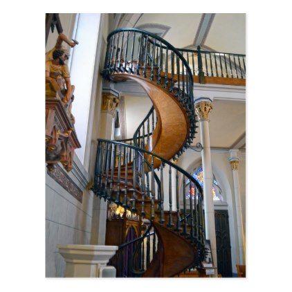 Best Loretto Chapel Miraculous Stairway Santa Fe Nm Postcard 640 x 480