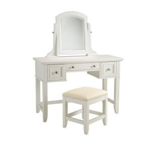 home styles naples vanity table and bench 5530 72 at the home depot