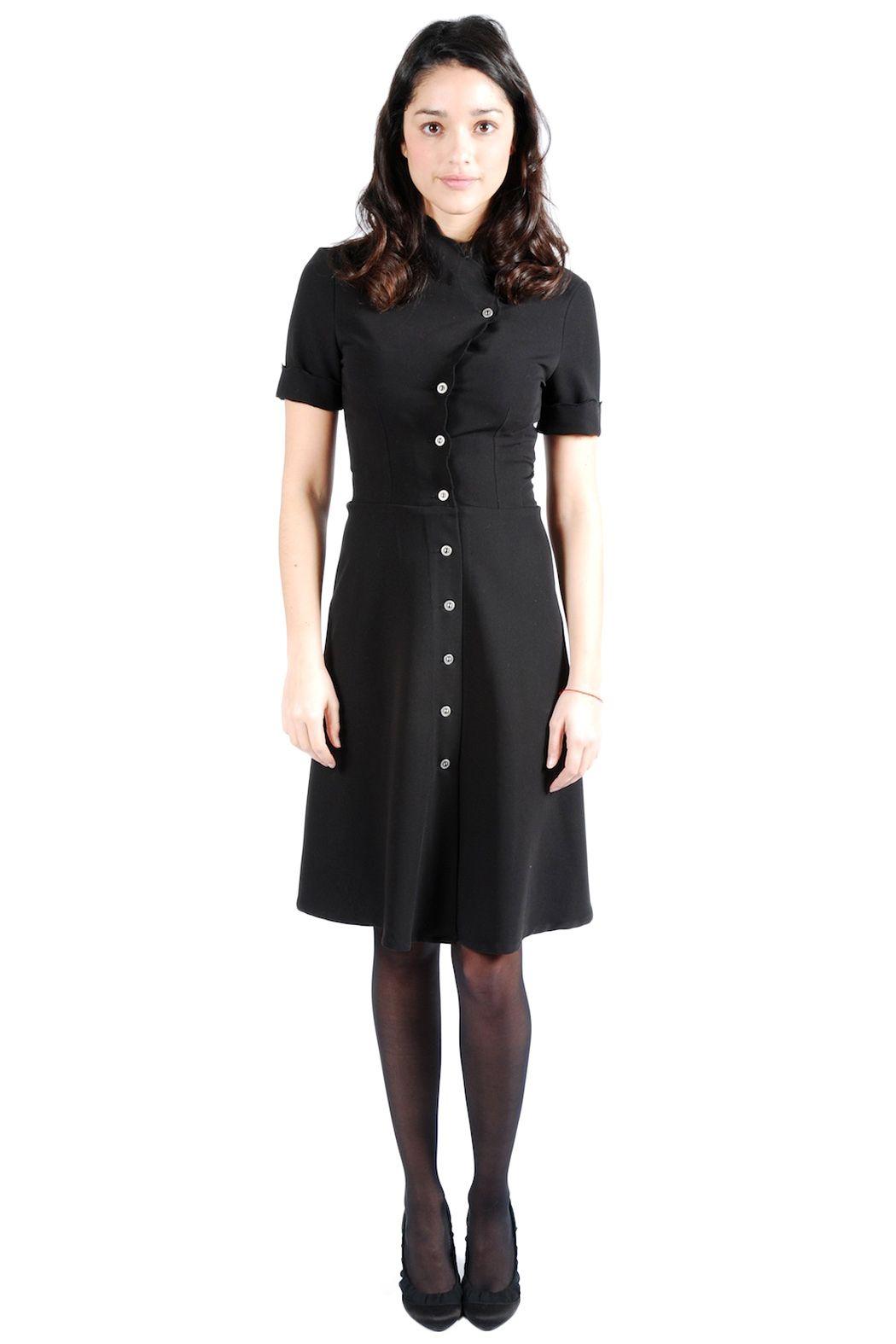 Structured Black Button Down Dress Clothes Clothes Design Dresses [ 1575 x 1050 Pixel ]