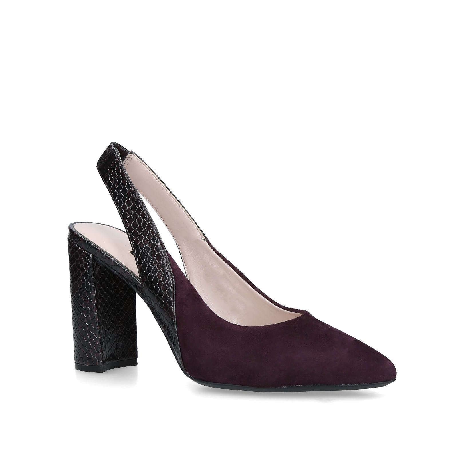 3d3fe2bbbb60 Shop ARERICK Wine Suede Slingback Court Shoes by NINE WEST at official Kurt  Geiger Site.