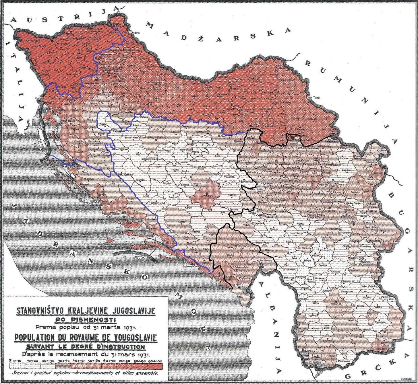 Literacy Rate In The Kingdom Of Yugoslavia Overlapped With Pre Ww1