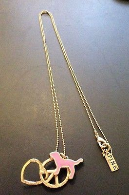 #Popular - Victoria's Secret Pink Dog/Peace Sign/Heart Charm Necklace  http://dlvr.it/NYmdTq - http://Ebaypic.twitter.com/oitGJHSAu6