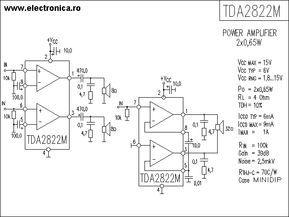 TDA2822M power audio amplifier schematic
