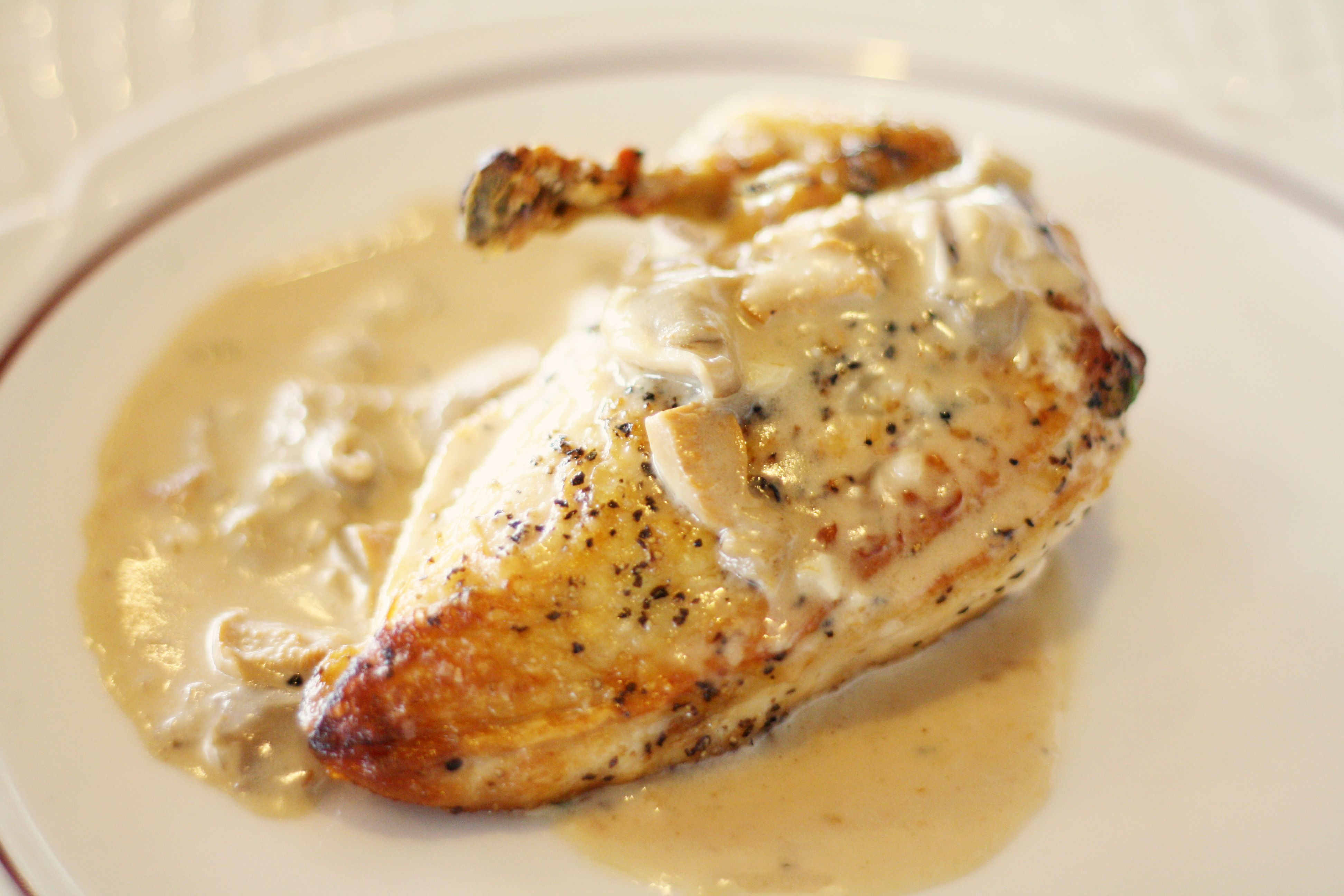 Roast Chicken With Wild Mushroom Sauce Recipe — Dishmaps