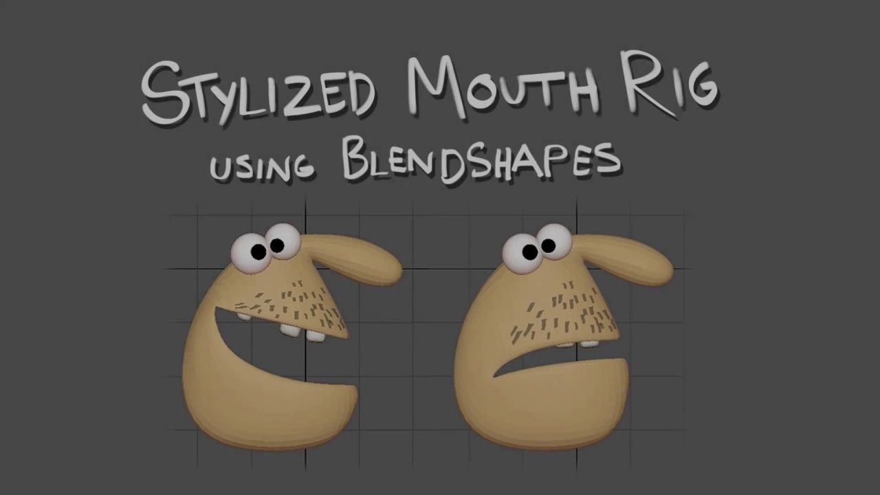 Creating a Stylized Mouth Rig - using Blendshapes (Maya & Zbrush
