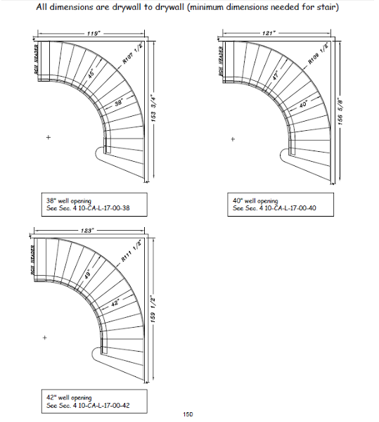 Curved stair 539 600 staircase pinterest for Curved staircase design plans