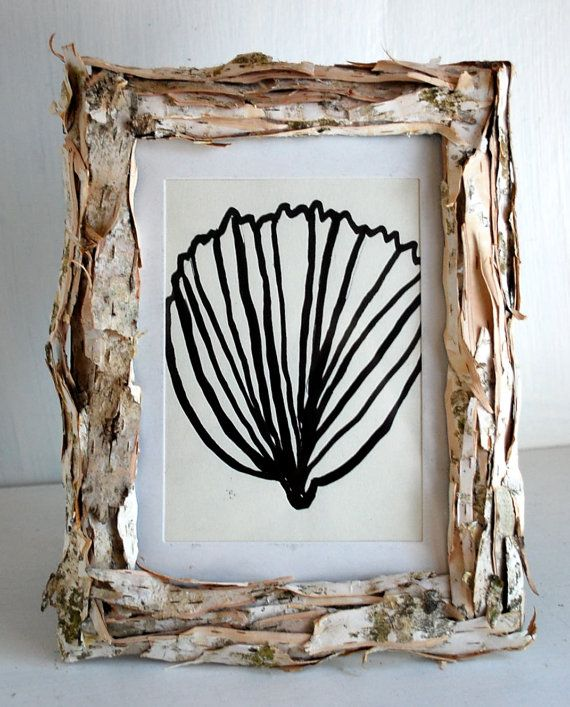 Beach Decor. Picture Frame. White Birch. Homemade from Rhode Island ...
