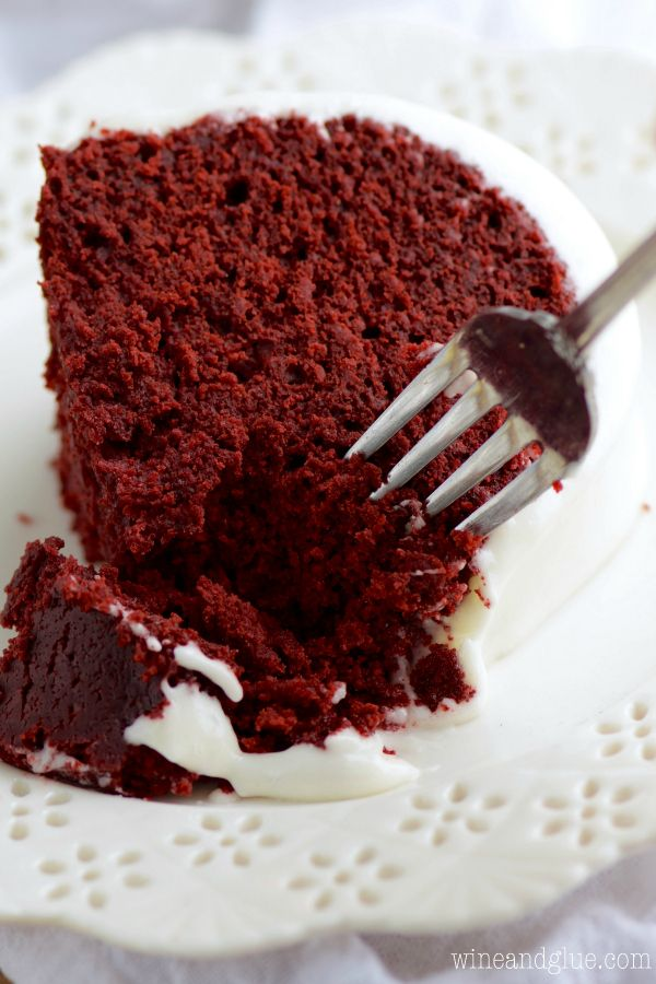 This Red Velvet Sour Cream Bundt Cake With Cream Cheese