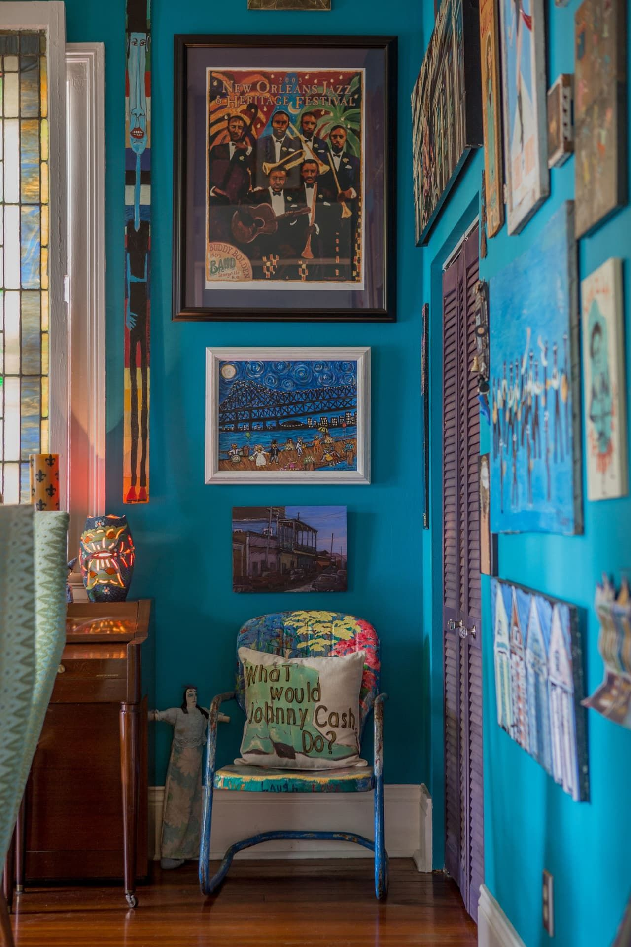 A Vibrant, Colorful, ArtFilled New Orleans Home