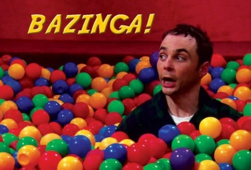 Image result for sheldon bazinga
