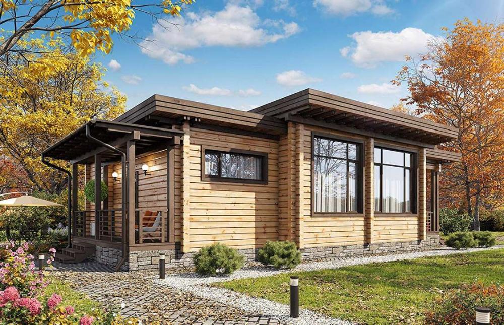 Laminated Log House Kit 63 900 52k Amazon Ecohousemart Kit Homes Tiny House Kits Pre Fab Tiny House