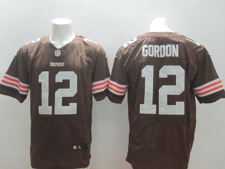 922493480b6 Men Cleveland Browns 12 Josh Gordon Brown Nike NFL Elite Jerseys ...