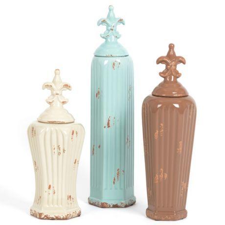 Blue & Brown Spa Jar #kirklands #bathroomluxury