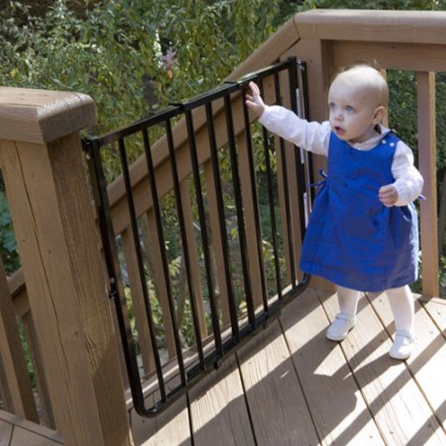 Cardinal Gates Stairway Special Outdoor Child Safety Gate  /Model:SS30 ODWH C /Designed For Top Of Stairway Use / Color: Black By  Generic * Read More At The ...