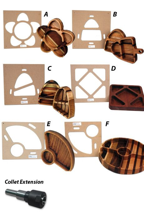 7-pc. Tray Making Template Package | Pinterest | Platos de madera ...