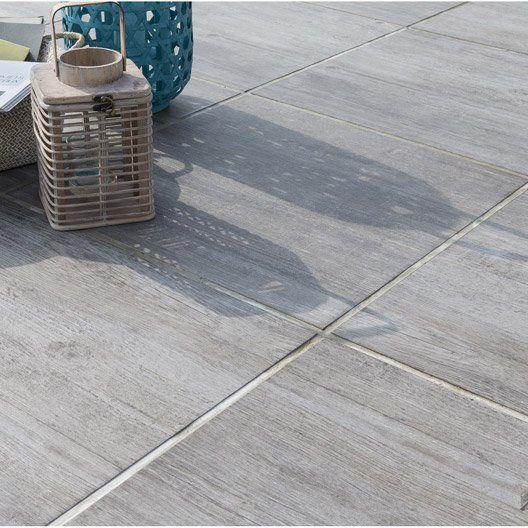 Dalle oc ane plot en pierre reconstitu e gris clair l 60 for Dalle terrasse pierre reconstituee