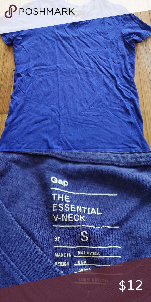 Gap Essential V Neck Purple Tee Good Used Condition Vneck Gap Tee Gap Shirts Tees Short Sleeve In 2020 Purple Tee Gap Shirt Tee Shirts