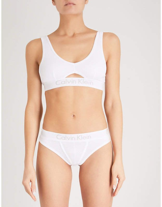 9cd00c92dd Calvin Klein Body cotton-jersey bralette in 2019