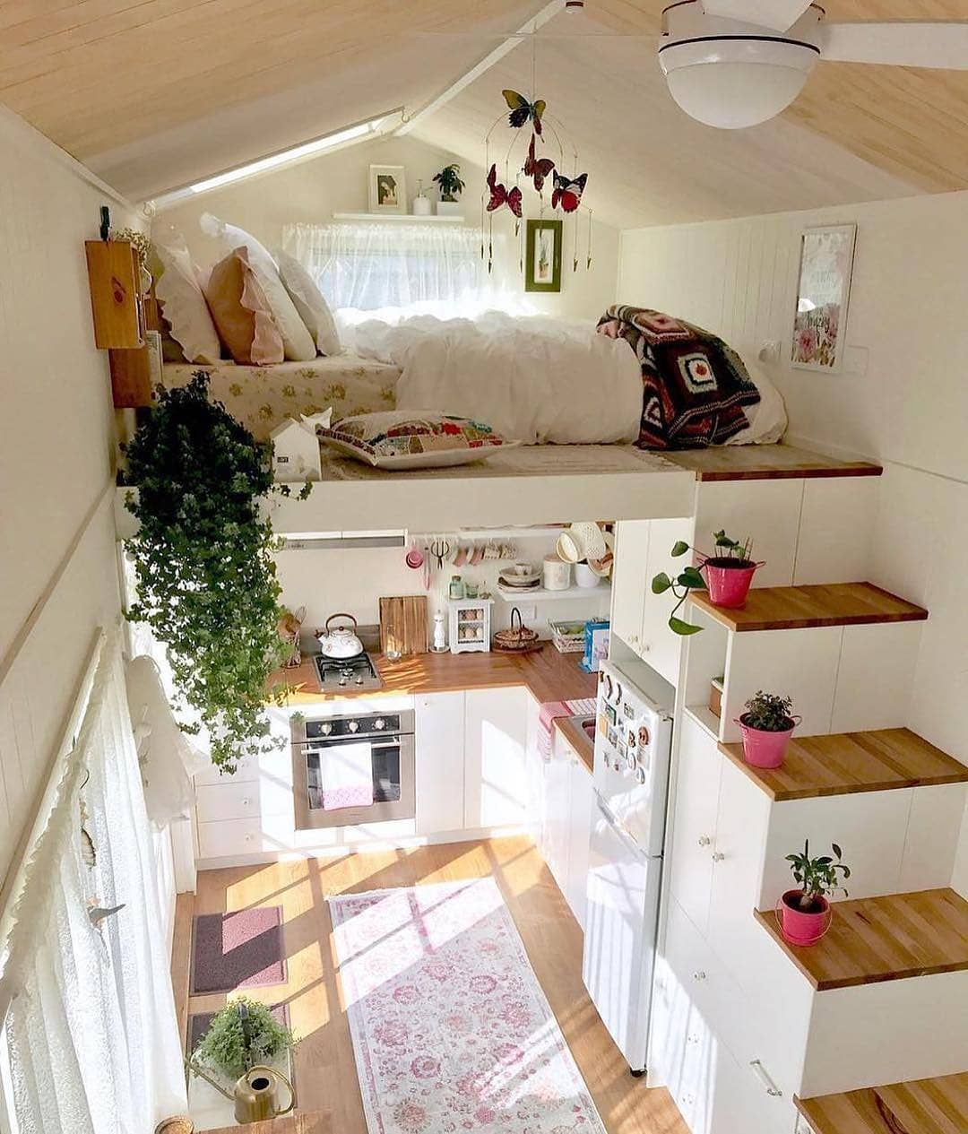 Cozi Homes On Instagram This Tiny House Is So Cute We Love All The Natural Light And Fresh Colors Tiny House Design Tiny House Interior Best Tiny House