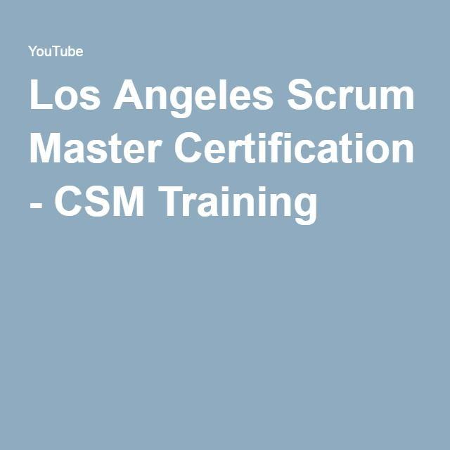 Los Angeles Scrum Master Certification