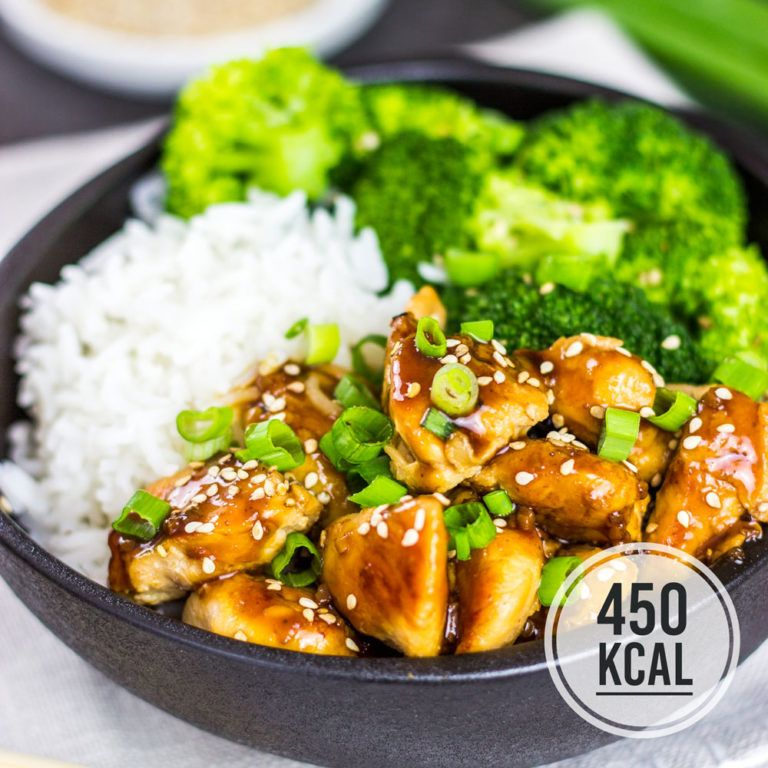 Chicken Teriyaki mit Brokkoli und Reis (einfaches Rezept und kalorienarm)