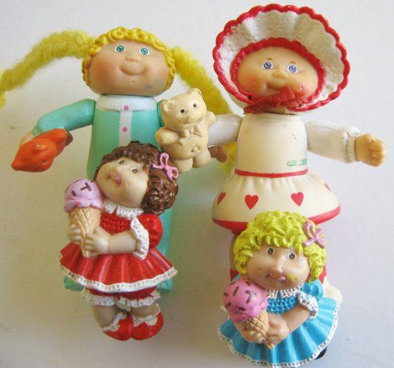 Vintage 80s Cabbage Patch Kids Pvc Figures Lot And I D Etsy Cabbage Patch Kids Patch Kids My Childhood Memories