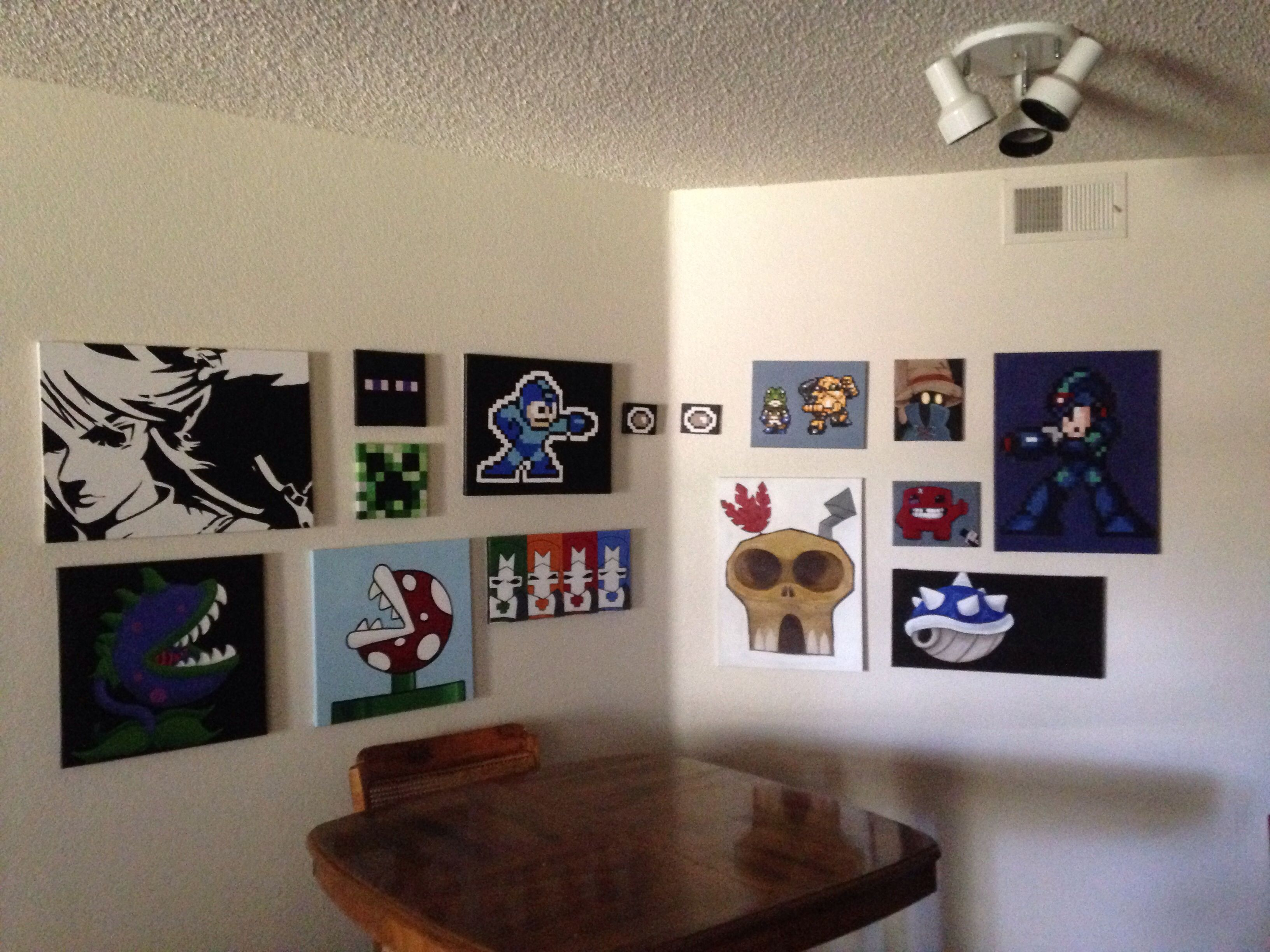 Added to the video game wall Legend of Zelda Mario Plants vs